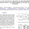 EFFECT OF GATE PULSE VARIATION ON THE PERFORMANCE OF FIFTEEN-LEVEL CASCADED H-BRIDGE VOLTAGE SOURCE INVERTER