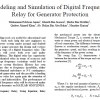 Modeling and Simulation of Digital Frequency Relay for Generator Protection