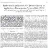 Performance Evaluation of a Distance Relay as Applied to a Transmission System With UPFC