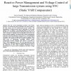 Reactive Power Management and Voltage Control of large Transmission system using SVC