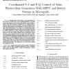 کنترل هماهنگ V-f و P-Qی مولدهای فوتوولتائیک خورشیدی با MPPT و ذخیرهی باطری در شبکههای میکرو