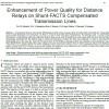 افزایش کیفیت توان برای رله های دیستانس بر روی خطوط انتقال جبران شده با FACTS موازی