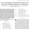 شبیه سازی مقاله Power Scheduling of Distributed Generators for Economic and Stable Operation of a Microgrid