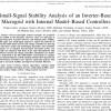 شبیه سازی مقاله Small-Signal Stability Analysis of an Inverter-Based Microgrid with Internal Model–Based Controllers