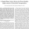 شبیه سازی مقاله A Single-Phase Active Device for Power Quality Improvement of Electrified Transportation