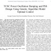 شبیه سازی مقاله TCSC Power Oscillation Damping and PSS Design Using Genetic Algorithm Modal Optimal Control