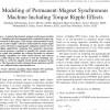 شبیه سازی مقاله Modeling of Permanent-Magnet Synchronous Machine Including Torque Ripple Effects