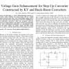 شبیه سازی مقاله Voltage Gain Enhancement for Step-Up Converter Constructed by KY and Buck-Boost Converters