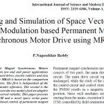 مدل سازی و شبیه سازی مدولاسیون پهنای پالس فضای برداری بر اساس موتور سنکرون با آهنربای دائم درایو شده با استفاده از MRAS