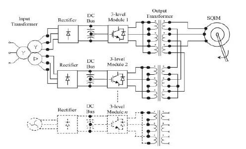 توپولوژی یک اینورتر سه فاز با اتصال-سری برای کاربردهای درایو موتور BLDC