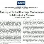 مدل سازی مکانسزم تخلیه جزئی در مواد جامد دی الکتریک