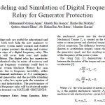مدلسازی و شبیه سازی رله فرکانس دیجیتال برای حفاظت ژنراتور