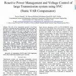 مدیریت توان راکتیو و کنترل ولتاژ سیستم خط انتقال بلند توسط SVC