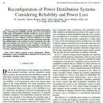 پیکر بندی مجدد سیستم های توزیع با توجه به قابلیت اطمینان و تلفات توان