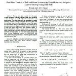 کنترل زمان واقعی سیستم توپ و میله با استراتژی کنترل تطبیقی مدل مرجع با استفاده از قاعده MIT