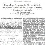 کاهش اتلاف توان برای نفوذ خودروی برقی با ذخیره ساز انرژی تعبیه شده در شبکه های توزیع
