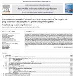 مروری بر پخش بار اقتصادی و مدیریت ریسک در مقیاس بزرگ پلاگین در خودروهای الکتریکی (PHEVs) – نفوذ سیستم های قدرت