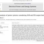 تجزیه و تحلیل پایداری سیستم های قدرت با توجه به محدود کننده خروجی AVR و PSS