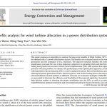 تجزیه و تحلیل مزایای مربوط به تخصیص و مکان توربین های بادی در یک سیستم توزیع قدرت