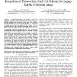 طرح سلول فتوولتاییک و سلول پیل سوختی یکپارچه برای تامین انرژی در نواحی دور
