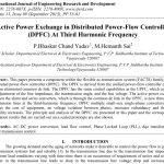 تبادل توان اکتیودر کنترل کننده پخش توان توزیع شده (DPFC) در فرکانس سوم هارمونیک