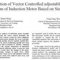 Simulation of Vector Controlled adjustable Speed System of Induction Motor Based on Simulink