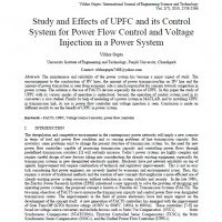 Study and Effects of UPFC and its Control System for Power Flow Control and Voltage Injection in a Power System