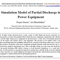 شبیه سازی مقاله Simulation Model of Partial Discharge in Power Equipment