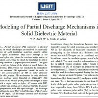 شبیه سازی مقاله Modeling of Partial Discharge Mechanisms in Solid Dielectric Material