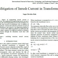 شبیه سازی مقاله Mitigation of Inrush Current in Transformer