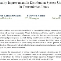 Power Quality Improvement In Distribution System Using D-Statcom In Transmission Lines