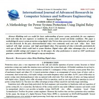 A Methodology for Power System Protection Using Digital Relay