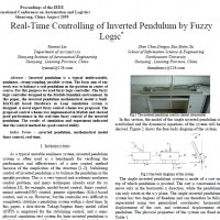 Real-Time Controlling of Inverted Pendulum by Fuzzy Logic