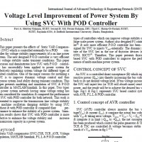 Voltage Level Improvement of Power System By Using SVC With POD Controller