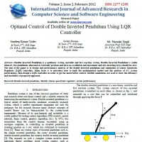 Optimal Control of Double Inverted Pendulum Using LQR Controller Sandeep
