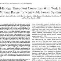 Full-Bridge Three-Port Converters With Wide Input Voltage Range for Renewable Power Systems