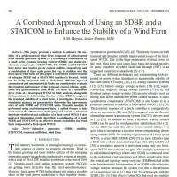 یک رویکرد ترکیبی استفاده از یک SDBR و یک STATCOM برای افزایش پایداری یک مزرعه باد