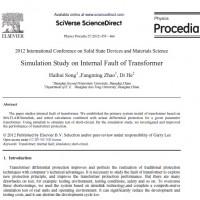 مطالعه شبیه سازی در خطای داخلی ترانسفورماتور