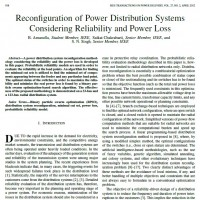 شبیه سازی مقاله Re configuration of Power Distribution Systems Considering Reliability and Power Loss