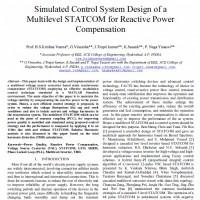 شبیه سازی طراحی سیستم کنترلی STATCOM چندسطحی برای جبران کنندگی توان راکتیو