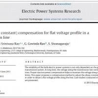 جبران بتا (فاز ثابت) برای مشخصات ولتاژ تخت در یک خط انتقال