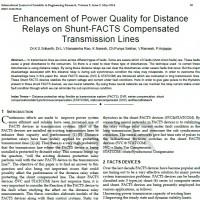 شبیه سازی مقاله Enhancement of Power Quality for Distance Relays on Shunt-FACTS Compensated Transmission Lines