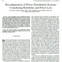 شبیه سازی مقاله Reconfiguration of Power Distribution Systems Considering Reliability and Power Loss