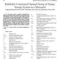 شبیه سازی مقاله Reliability-Constrained Optimal Sizing of Energy Storage System in a Microgrid