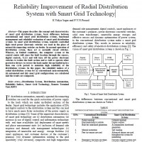 شبیه سازی مقاله Reliability Improvement of Radial Distribution System with Smart Grid Technology