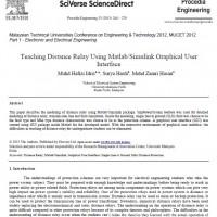 شبیه سازی مقاله Teaching Distance Relay Using Matlab/Simulink Graphical User Interface