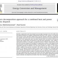 رویکرد تجزیه بندرز برای یک پخش بار اقتصادی ترکیبی توان و حرارت