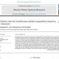 شبیه سازی مقاله Individual failure rates for transformers within a population based on diagnostic measures