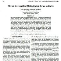 حلقهی کرونا بهینه برای ولتاژهای متناوب ۳۸۰ کیلوولت