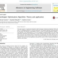 شبیه سازی مقاله Grasshopper Optimisation Algorithm Theory and application